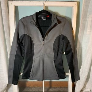 SPYDER zip up jacket gray and black NWOT